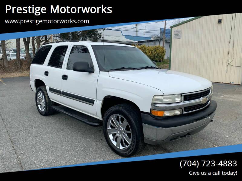 2004 Chevrolet Tahoe for sale at Prestige Motorworks in Concord NC