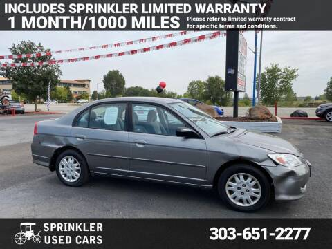 2005 Honda Civic for sale at Sprinkler Used Cars in Longmont CO