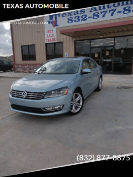 2013 Volkswagen Passat for sale at TEXAS AUTOMOBILE in Houston TX