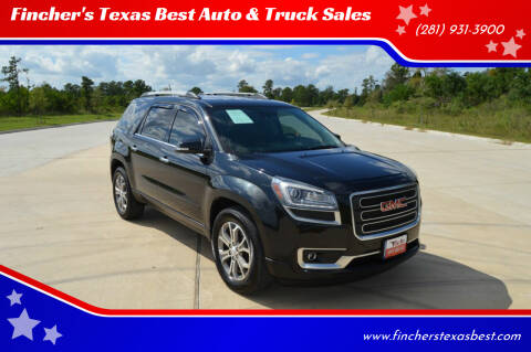 2014 GMC Acadia for sale at Fincher's Texas Best Auto & Truck Sales in Tomball TX