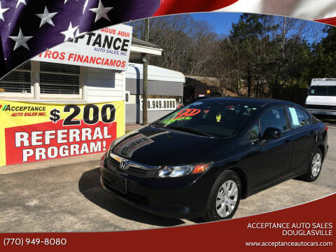 2012 Honda Civic for sale at Acceptance Auto Sales Douglasville in Douglasville GA