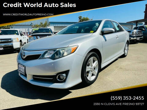 2013 Toyota Camry for sale at Credit World Auto Sales in Fresno CA