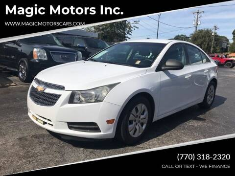 2012 Chevrolet Cruze for sale at Magic Motors Inc. in Snellville GA