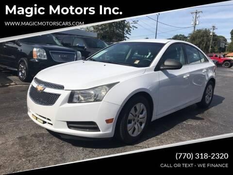 2012 Chevrolet Cruze for sale at Magic Motors Inc. in Snellville GA