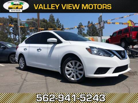 2016 Nissan Sentra for sale at Valley View Motors in Whittier CA