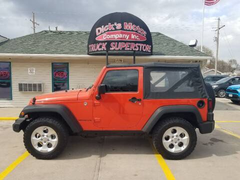 2015 Jeep Wrangler for sale at DICK'S MOTOR CO INC in Grand Island NE