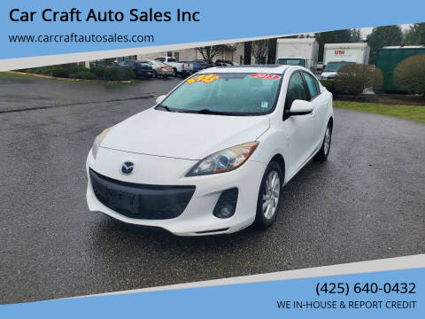 2013 Mazda MAZDA3 for sale at Car Craft Auto Sales Inc in Lynnwood WA