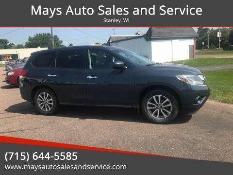 2014 Nissan Pathfinder for sale at Mays Auto Sales and Service in Stanley WI
