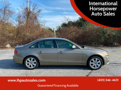 2009 Audi A4 for sale at International Horsepower Auto Sales in Warwick RI