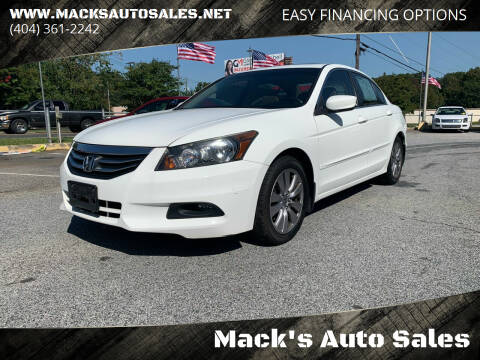 2012 Honda Accord for sale at Mack's Auto Sales in Forest Park GA