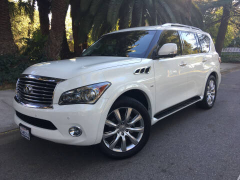 2014 Infiniti QX80 for sale at Valley Coach Co Sales & Lsng in Van Nuys CA