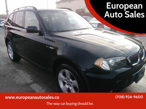 2006 BMW X3 for sale at European Auto Sales in Bridgeview IL