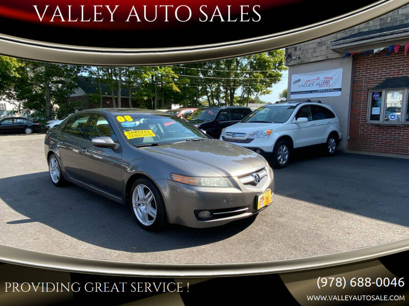 2008 Acura TL for sale at VALLEY AUTO SALES in Methuen MA
