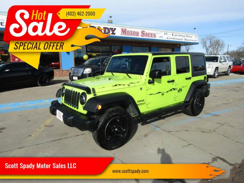 2016 Jeep Wrangler Unlimited for sale at Scott Spady Motor Sales LLC in Hastings NE