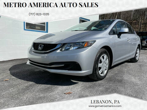2013 Honda Civic for sale at METRO AMERICA AUTO SALES of Lebanon in Lebanon PA