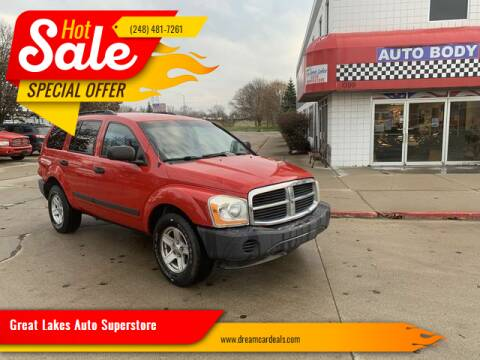 2006 Dodge Durango for sale at Great Lakes Auto Superstore in Waterford Township MI
