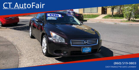 2012 Nissan Maxima for sale at CT AutoFair in West Hartford CT