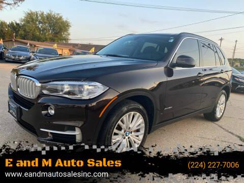 2014 BMW X5 for sale at E and M Auto Sales in Elgin IL