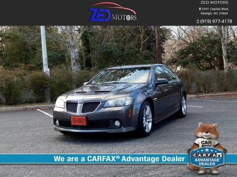 2009 Pontiac G8 for sale at Zed Motors in Raleigh NC