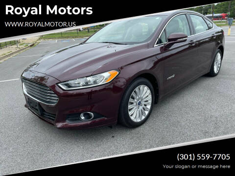 2013 Ford Fusion Hybrid for sale at Royal Motors in Hyattsville MD