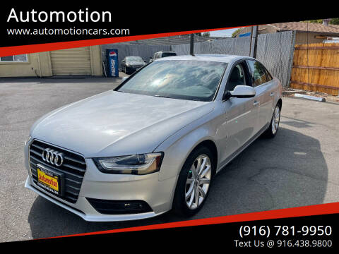 2013 Audi A4 for sale at Automotion in Roseville CA