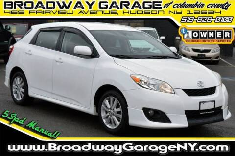 2010 Toyota Matrix for sale at Broadway Garage of Columbia County Inc. in Hudson NY