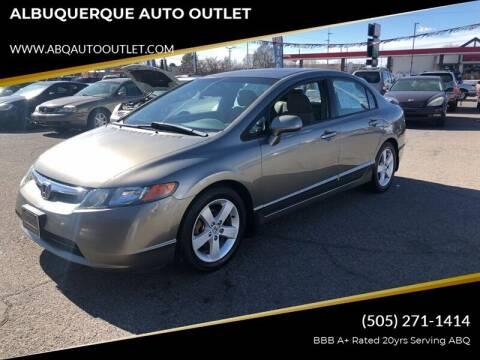 2006 Honda Civic for sale at ALBUQUERQUE AUTO OUTLET in Albuquerque NM