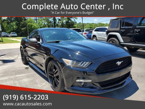 2015 Ford Mustang for sale at Complete Auto Center , Inc in Raleigh NC