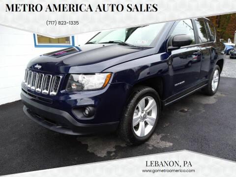 2017 Jeep Compass for sale at METRO AMERICA AUTO SALES of Lebanon in Lebanon PA