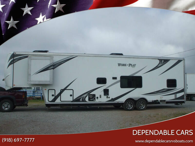 2017 WORK & PLAY **TOY HAULER** 38ft (5th) WHEEL for sale at DEPENDABLE CARS in Mannford OK