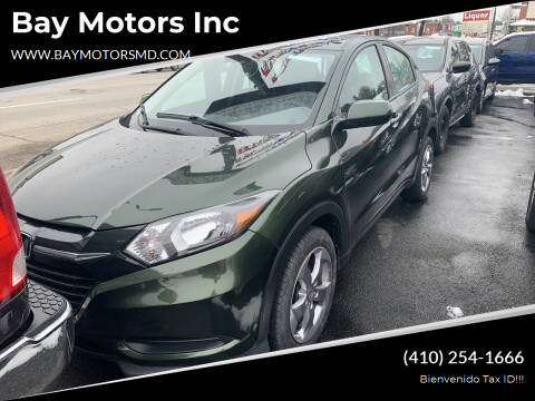 2018 Honda HR-V for sale at Bay Motors Inc in Baltimore MD