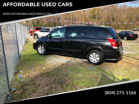 2006 Nissan Quest for sale at AFFORDABLE USED CARS in Richmond VA