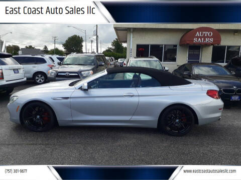 2012 BMW 6 Series for sale at East Coast Auto Sales llc in Virginia Beach VA