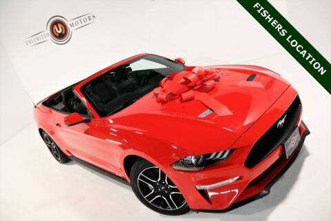 2020 Ford Mustang for sale at Unlimited Motors in Fishers IN