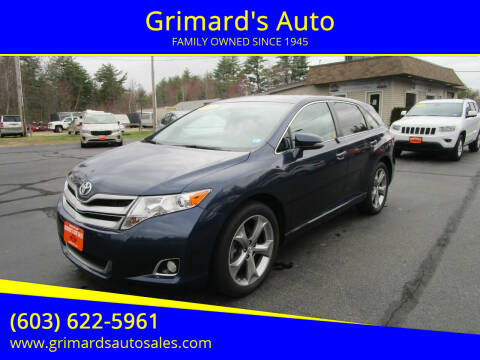 2015 Toyota Venza for sale at Grimard's Auto in Hooksett, NH