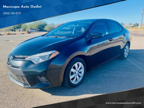 2015 Toyota Corolla for sale at Maricopa Auto Outlet in Maricopa AZ