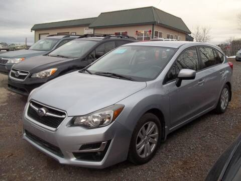2015 Subaru Impreza for sale at Warner's Auto Body of Granville Inc in Granville NY