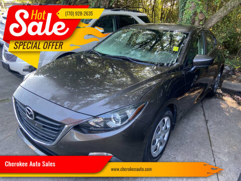 2015 Mazda MAZDA3 for sale at Cherokee Auto Sales in Acworth GA
