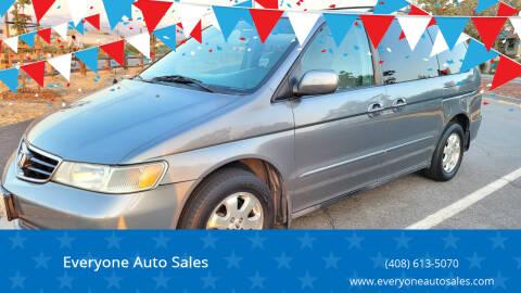 2002 Honda Odyssey for sale at Everyone Auto Sales in Santa Clara CA
