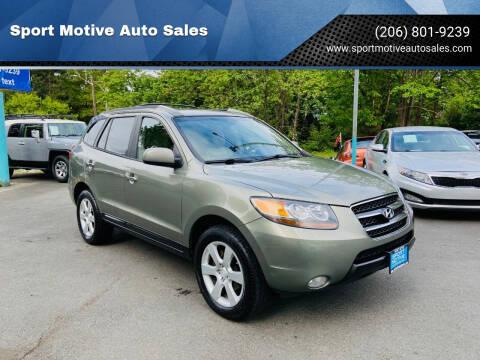2007 Hyundai Santa Fe for sale at Sport Motive Auto Sales in Seattle WA