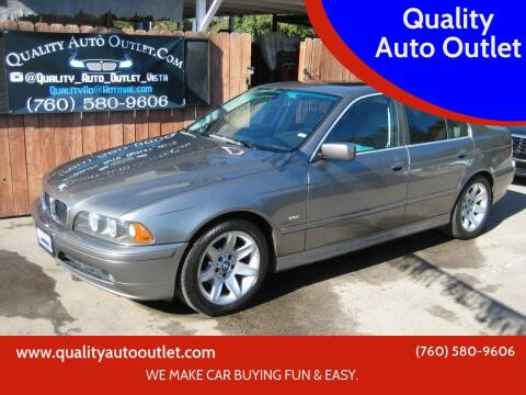 2003 BMW 5 Series for sale at Quality Auto Outlet in Vista CA