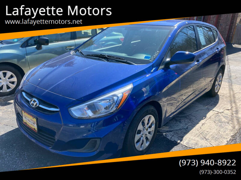 2016 Hyundai Accent for sale at Lafayette Motors in Lafayette NJ