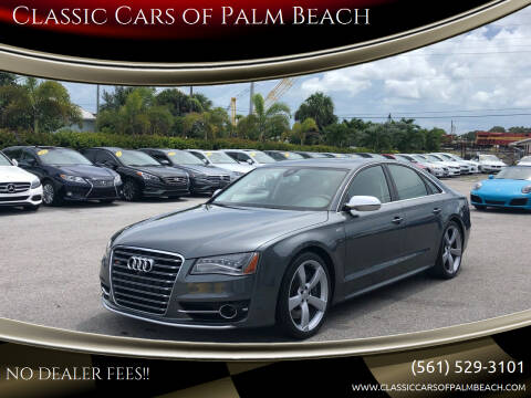 2014 Audi S8 for sale at Classic Cars of Palm Beach in Jupiter FL