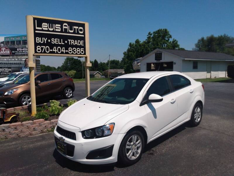 2014 Chevrolet Sonic for sale at LEWIS AUTO in Mountain Home AR
