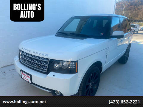 2012 Land Rover Range Rover for sale at BOLLING'S AUTO in Bristol TN