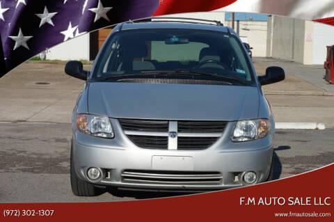 2005 Dodge Grand Caravan for sale at F.M Auto Sale LLC in Dallas TX