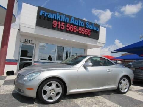 2005 Lexus SC 430 for sale at Franklin Auto Sales in El Paso TX