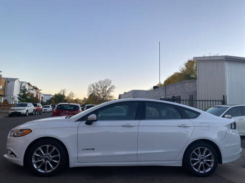 2017 Ford Fusion Hybrid for sale at Sanaa Auto Sales LLC in Denver CO