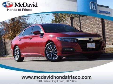 2018 Honda Accord Hybrid for sale at DAVID McDAVID HONDA OF IRVING in Irving TX