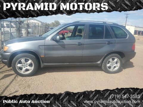 2002 BMW X5 for sale at PYRAMID MOTORS - Pueblo Lot in Pueblo CO